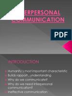 4.1 Interpersonal Communication