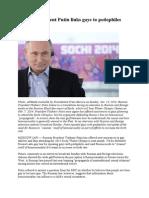 President Putin & Vatican III