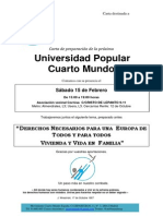 Carta Universidad Popular - Febrero 2014