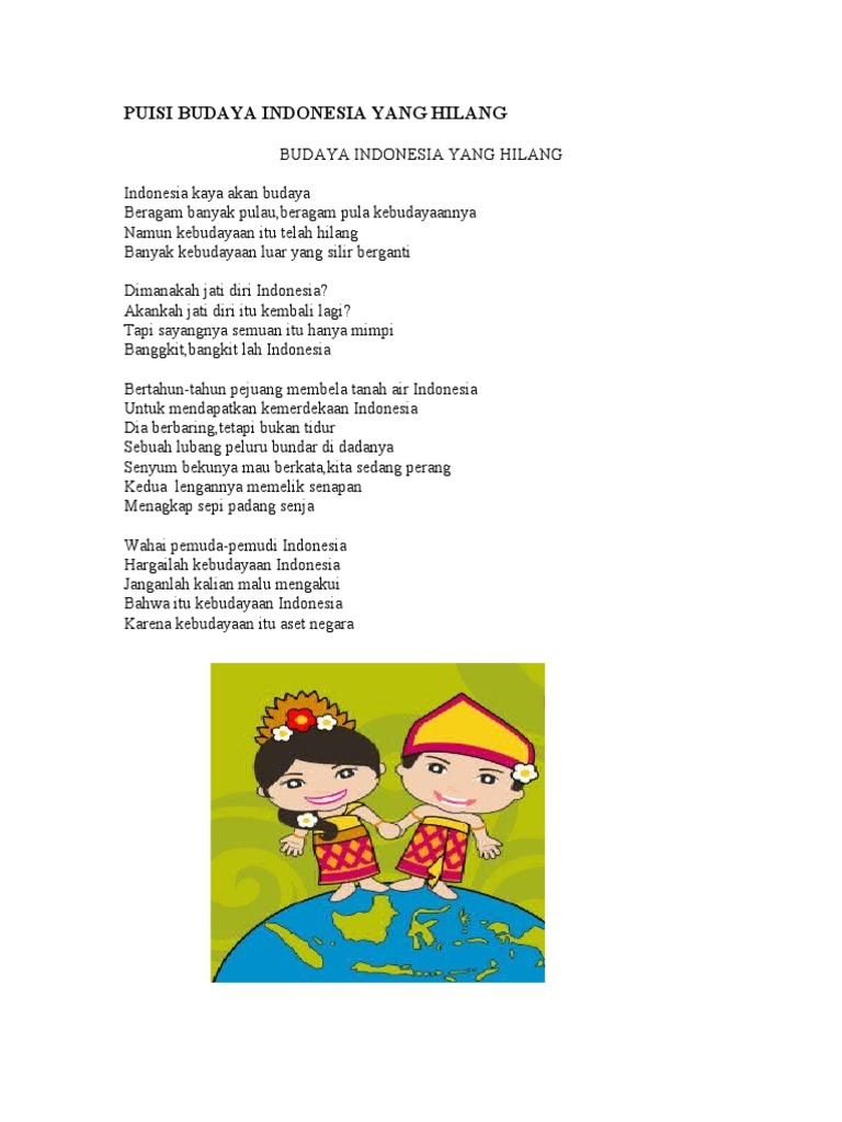 Puisi Budaya Indonesia Yang Hilang