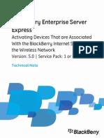 BlackBerry Enterprise Server Express Technical Note 1447326 0118071711 001 5.0.1 or Later US