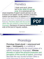 Phonetics & Phonology