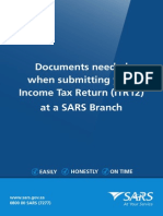 IT-BR010 - Documents Needed When Submitting Your Income Tax Return ITR12 at a SARS Branch - External Brochure