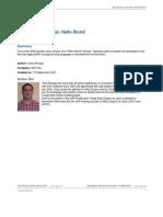 Web Dynpro Tutorial Hello World