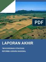 Laporan Akhir Tim Koordinasi Strategis Reformasi Agraria Nasional Tahun 2013