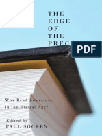 The Edge of the Precipice Why Read Literature in a Digital Age