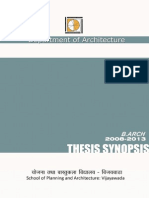 Thesis Synopsis-2013 0 department of architecture