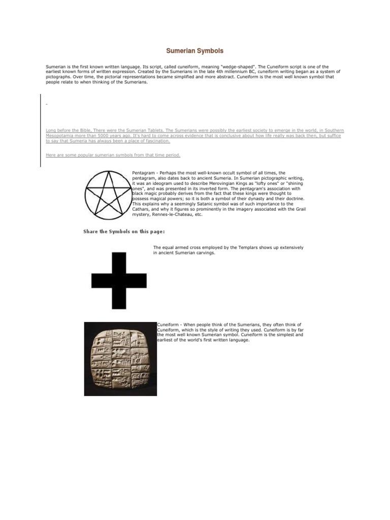 Sumerian Symbolscx Sumer Lilith