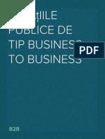 Relaţiile publice de tip business to business. B2B.
