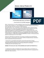 Cara Backup Dan Restore Aktivasi Windows 8 Offline