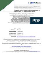 Placental Plasmodium Falciparum Malaria Infection
