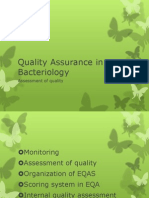 Quality Assurance in Bacteriology
