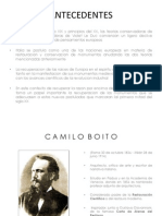 Camilo Boito, Restauracion de la Arqueologia Romana