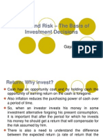 Return and Risk - The Basis of Investment