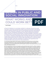 Design in Public and Social Innovation