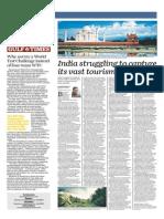 India Struggling to Capture Vast Tourism Potential