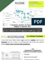 [Reggiolo] Auditorium Scuole Medie Carducci - progettazione