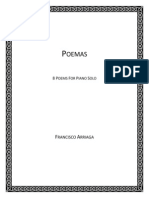 Francisco Arriaga - 8 Poems for Piano Solo