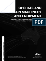 Operate and Maintain Machinery and Equipment Book 1