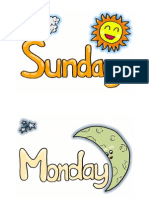 Weather and Day Flashcards Be