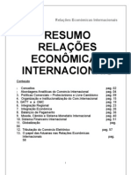 18021909 RESUMO Direito Comercial Internacional Relacoes Economic As Prof Alexandre Jose Granzotto