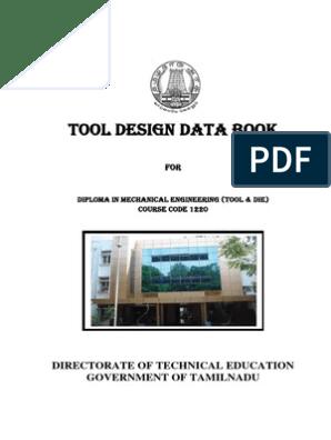 Tool Design Data Book pdf | Sheet Metal | Screw