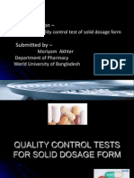 quality control test of pharmaceutical solid dosage form. ppt