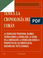 Tema 5. Cronologia Del Coran