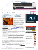Pumpkins for a Beautiful Skin - The Times of India