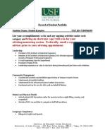 Daniel Kamsler_Record of Student Portfolio