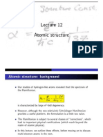 Atomic structure Lecture