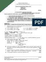 Model Informatică Profil Real Mate-Info și Vocațional