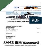 Summer Training Project on HDC Bank Varanasi SHISH MBA SAMS IBM Varanasi