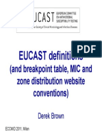 EUCAST 2012 Definitions Interpretations