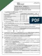ANALISTA - ÁREA 3 - GESTÃO E PLANEJAMENTO
