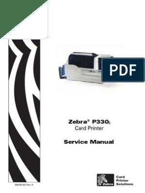 Zebra P330i Service Manual | Printer (Computing) | Electromagnetic
