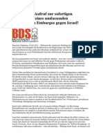 110709_BNC_Aufruf zur sofortigen Verhängung eines umfassenden Militärembargos gegen Israel