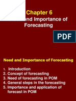 Importance of Forecasting