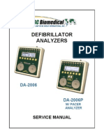 BC Biomedical DA-2006 Defibrillator Analyzer - Service Manual