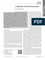 Growth and Device Application of CdSe Nanostructures