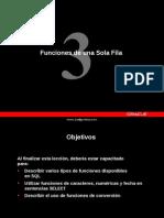 ORACLE Les03 Funciones de Una Sola Fila