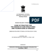 CODE of PRACTICE for the Design of Sub Structure and Foundations of Bridges