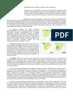 Mapas de distribución de faias, carballos, sobreiras e aciñeiras