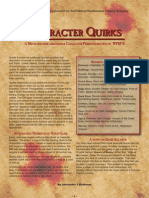 WFRP Quirks