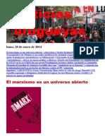Noticias Uruguayas Lunes 20 de Enero Del 2014
