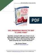 Amazing Ways to Say I Love You