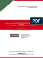 Cabra Torres, F. y Marciales Vivas, G.P (2012) Comunicación electrónica y Cyberbullying.