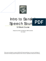 Intro to Sanskrit Speech Sounds