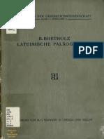 Bretholz Lateinische Paläographie