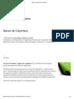 Banco de Carpintero _ Mi Carpinteria
